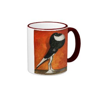 Negro del Pouter del Pigmy de varios colores Taza De Café