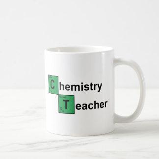 Negro del profesor de la química taza