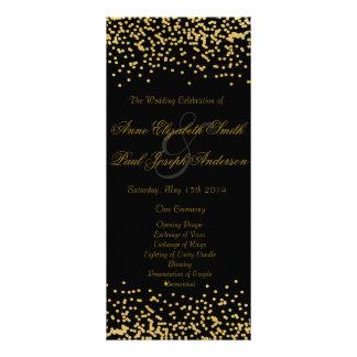 Negro del programa del boda del confeti del oro lonas publicitarias