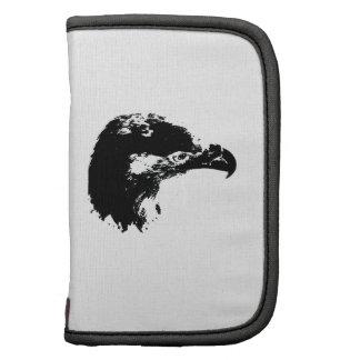 negro del recorte del águila calva planificador