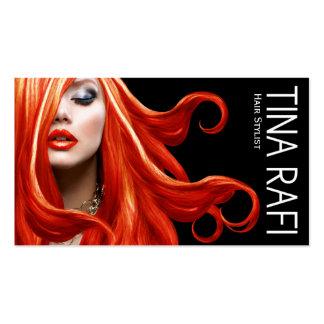 Negro del redhead el | del estilista de los tarjetas de visita