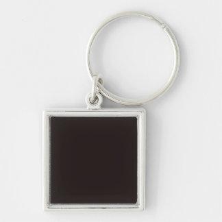 Negro del regaliz llavero cuadrado plateado