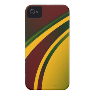 Negro del reggae, rojo, amarillo, caja verde del i iPhone 4 Case-Mate fundas