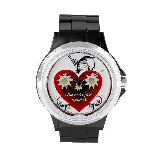 Negro del reloj del diamante artificial de Spatzl