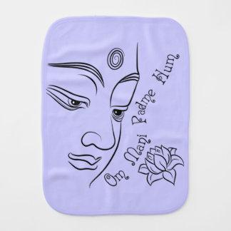 Negro del ronquido de Buda OM Mani Padme Paños Para Bebé