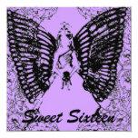 Negro del s 16/invitación angelicales sofisticados