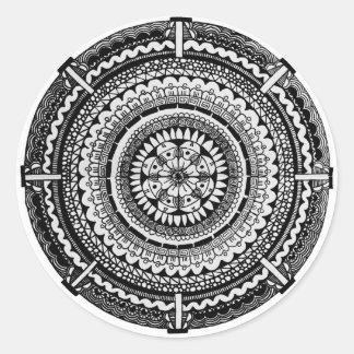 Negro del seísmo pegatina redonda