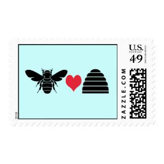Negro del sello de la colmena de los corazones de