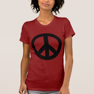 Negro del signo de la paz camisetas