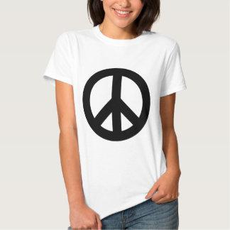 Negro del signo de la paz remeras