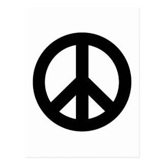 Negro del signo de la paz tarjeta postal