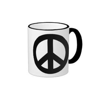 Negro del signo de la paz taza de dos colores