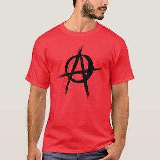 Negro del símbolo del anarquista playera