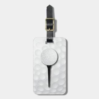 Negro del tee de golf el | etiqueta para equipaje