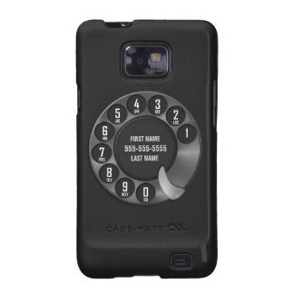 Negro del teléfono de dial rotatorio de la escuela samsung galaxy SII carcasa
