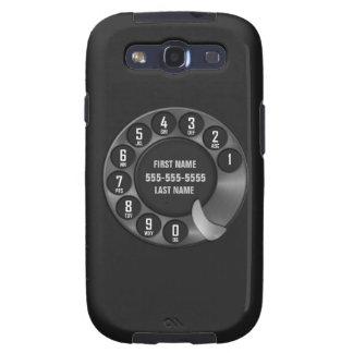 Negro del teléfono de dial rotatorio de la escuela samsung galaxy s3 cobertura