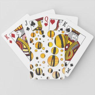 Negro del tigre e impresión anaranjada cartas de póquer