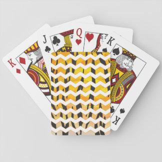 Negro del tigre e impresión anaranjada baraja de cartas