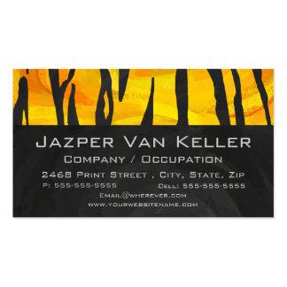 Negro del tigre e impresión anaranjada con el tarjetas de visita