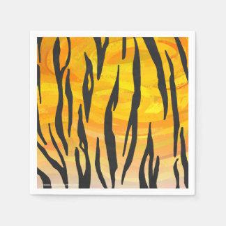 Negro del tigre e impresión anaranjada servilleta desechable