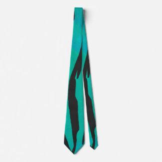 Negro del tigre e impresión del trullo corbata