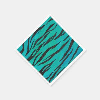 Negro del tigre e impresión del trullo servilleta de papel