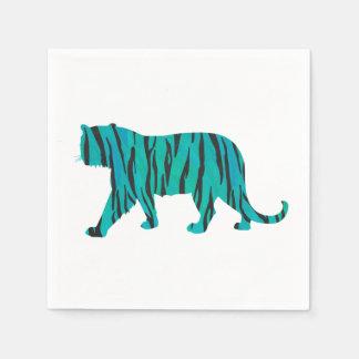 Negro del tigre e impresión del trullo servilleta desechable