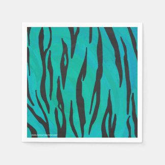 Negro del tigre e impresión del trullo servilletas desechables