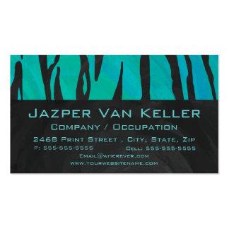 Negro del tigre e impresión del trullo plantilla de tarjeta de visita