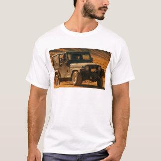 Negro del tj del jeep playera