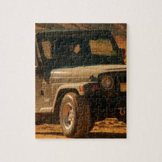 Negro del tj del jeep puzzle con fotos