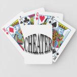 Negro del tramposo baraja cartas de poker