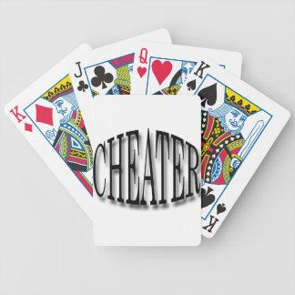 Negro del tramposo baraja de cartas