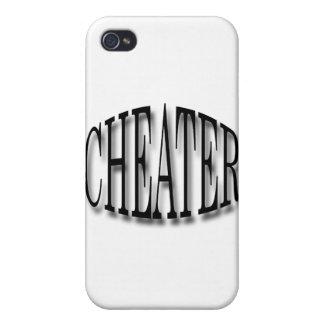 Negro del tramposo iPhone 4 protector