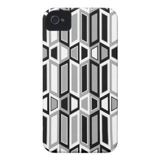 negro del trapezoide del paralelogramo de la casam iPhone 4 cárcasas