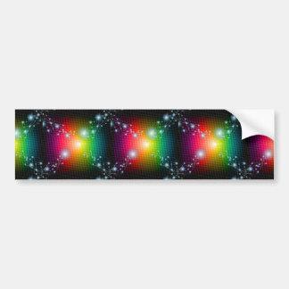 NEGRO del Vector-Imagen-de-Abstracto-Colorido-Fond Pegatina Para Auto