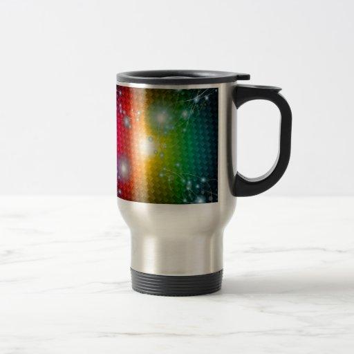 NEGRO del Vector-Imagen-de-Abstracto-Colorido-Fond Tazas De Café
