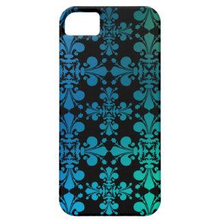 Negro del verde azul funda para iPhone 5 barely there