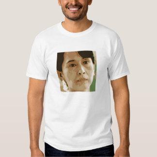 negro del verde del líder de Aung San Suu Kyi Poleras