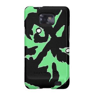 Negro del verde del monstruo de Frankenstein del v Samsung Galaxy SII Carcasa