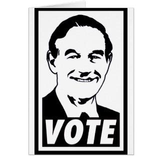 Negro del voto 2012 de Ron Paul Felicitación