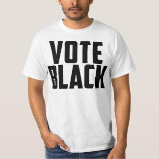 Negro del voto (camiseta blanca) polera