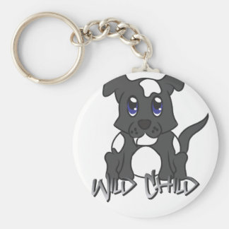 Negro del WC del perrito Llaveros Personalizados
