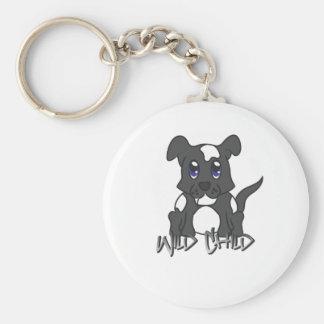 Negro del WC del perrito Llavero Personalizado