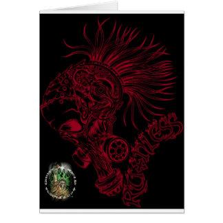 Negro/despiadado rojo tarjeta de felicitación