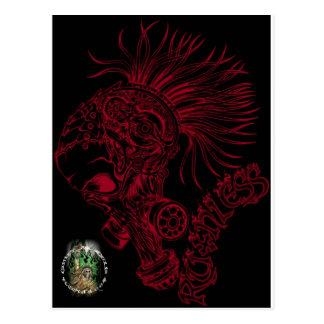 Negro/despiadado rojo postal