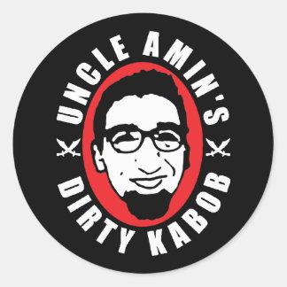Negro Dirty Kabob Sticker de tío Amin Pegatinas Redondas