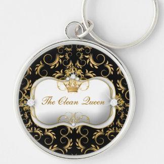 Negro divino de oro de 311 Ciao Bella Llavero Redondo Plateado