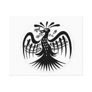 Negro drawing.png dentado del extracto del pavo re lona envuelta para galerias