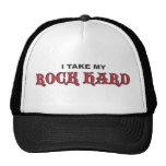 Negro duro como una roca/rojo gorras de camionero